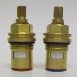 Brass 1/2 20 Spline Ceramic Disc Tap Cartridges Pair - 62003396